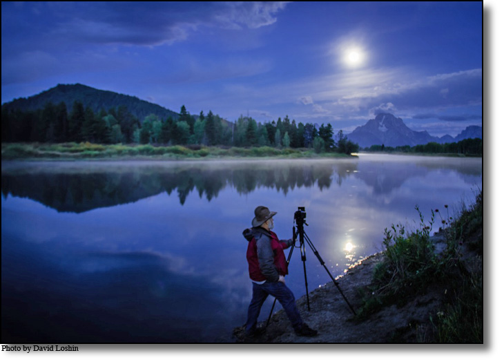 Daryl L. Hunter photographing Oxbow Bend in Grand Teton National Park