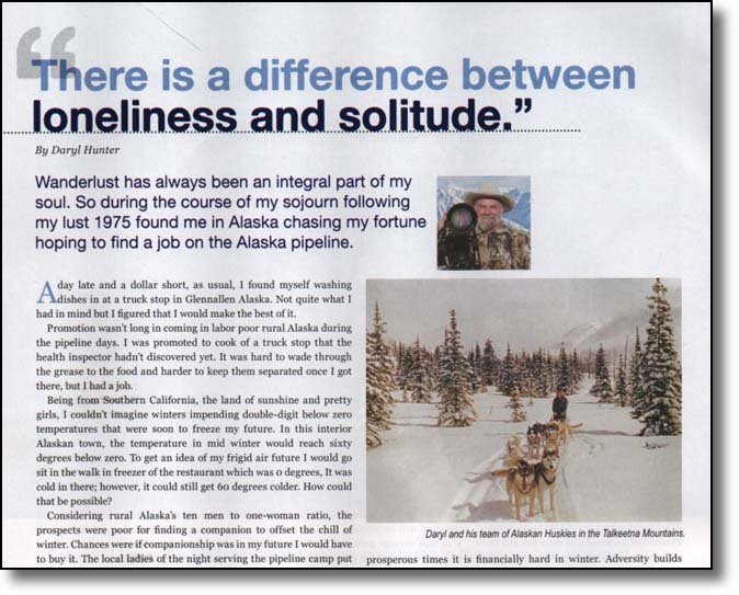 Daryl L. Hunter, Mushing Magazine