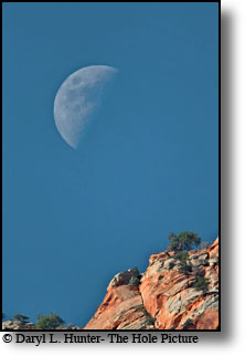 moon over zion, Zion Natonal Park