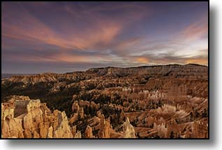 Bryce Canyon Sunset, Bryce National Park, Utah