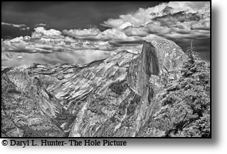 Half Dome, thunderstorms, Yosemite Valley